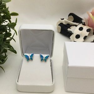 Other - 🛑55% OFF⁉️Lab Opal Sterling Silver Earrings